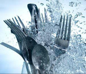 Cutlery in dishwashing machine