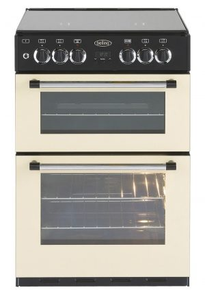 Double oven gas range cooker