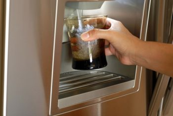Refrigerator cold water dispenser