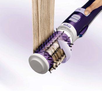 Rotating hair brush styler