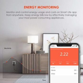 Energy consumption monitoring smart socket